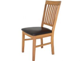 Duke Oak Dining Chair - Bicast Pad