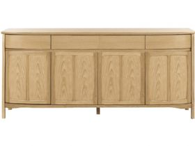 Shaped 4 Door Sideboard