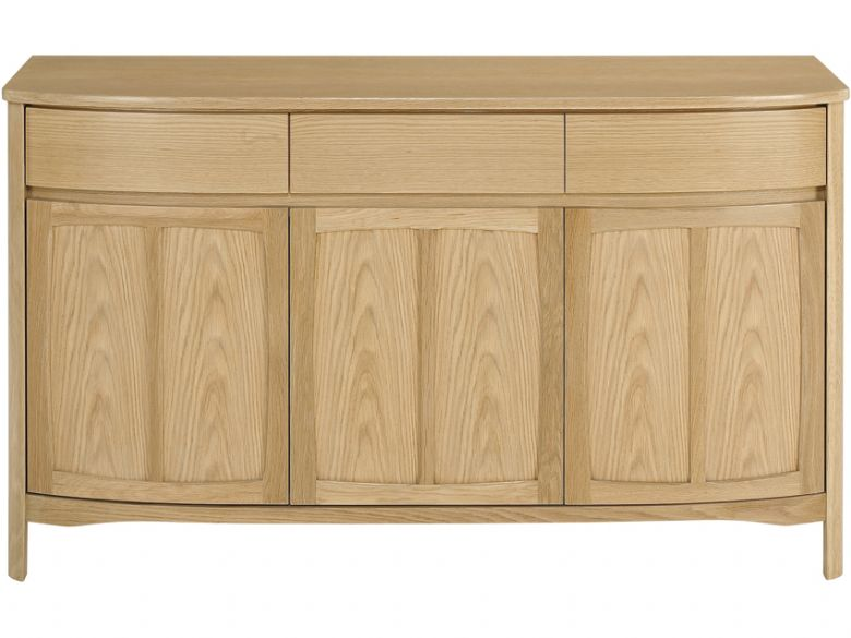 Shaped 3 Door Sideboard