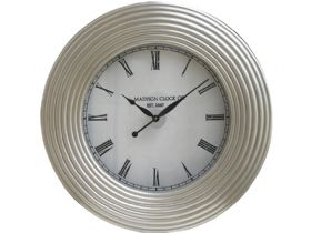 "Vaughan Silver Leaf 36"" Round Wall Clock"
