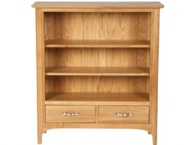 Oak Wide Bookcase