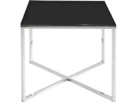 Lamp Table - Black Glass