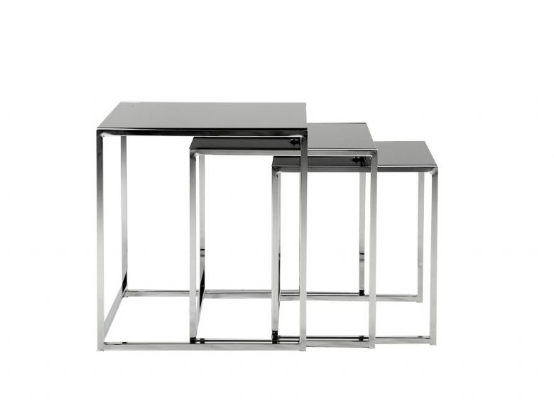 Nest of Tables - Black Glass