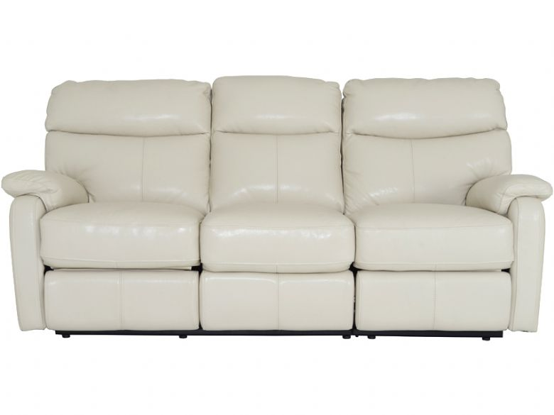 3 Seater Leather Manual Recliner Sofa