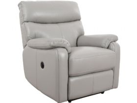Scott leather power recliner chair