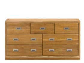 Oak Chest 4+3 Drawers