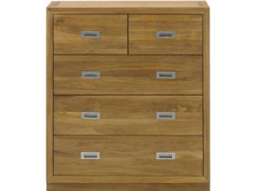Oak Chest w/3+2 Drawers