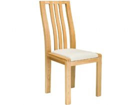 Oak Dining Chair Cream Fabric
