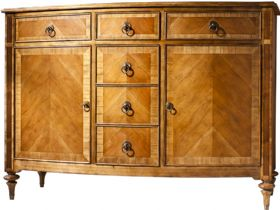2 Door With 6 Drawers Sideboard