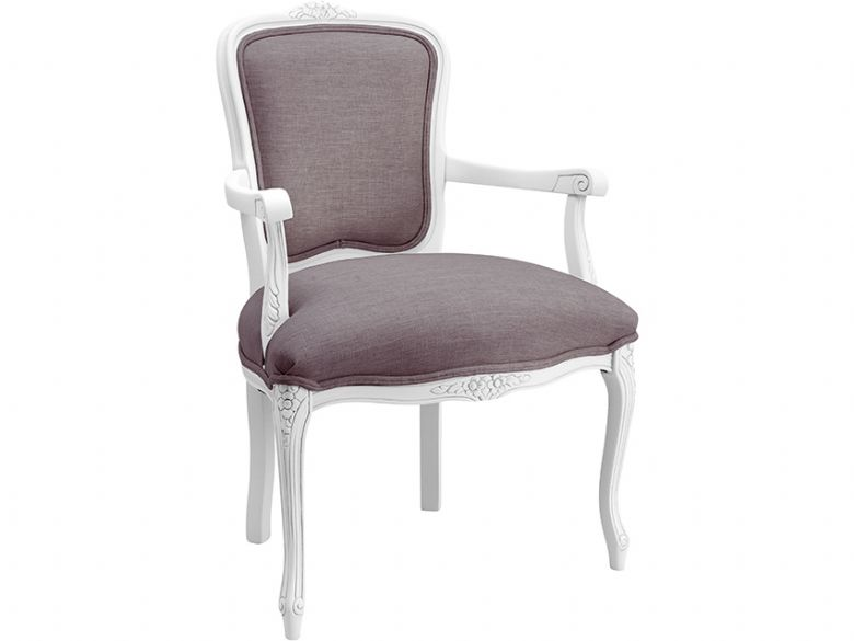Fabric Carver Dining Chair
