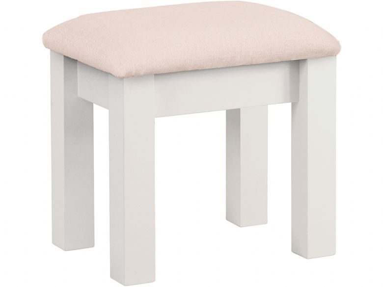 Painted Stool With Fabric Seat Pad