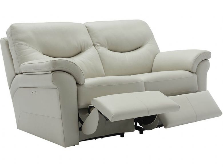 Washington Leather 2 Seater Double Recliner Sofa
