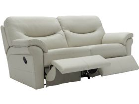 Washington Leather 3 Seater Double Recliner Sofa