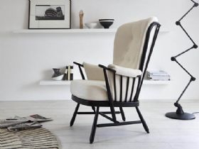 Ercol Evergreen Fabric Chair Black Frame