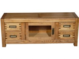 Oak Glazed Media Unit