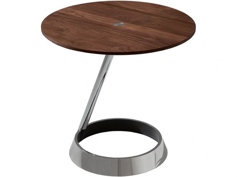 Circular Coffee Table with Ring Base
