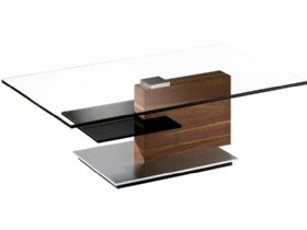 Venjakob Rectangular Coffee Table with Black Shelf