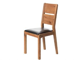 Ellie Oak Dining Chair Brown PU Seat