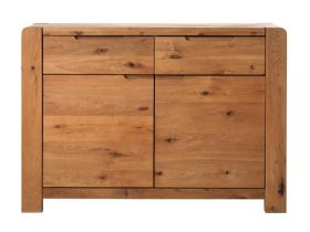 Oak 2 Door, 2 Drawer Sideboard
