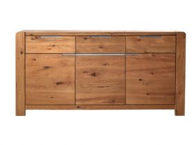 Ellie Oak 3 Door, 3 Drawer Sideboard