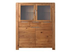 Oak 2+2 Door, 3 Drawer Highboard