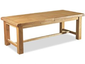 Oak 2.2m Large Extending Dining Table
