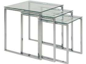 Nest Of Tables - Clear Glass