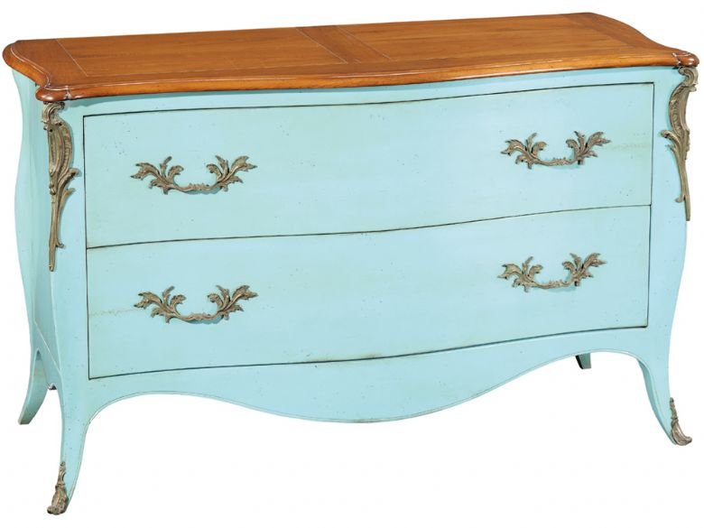 Louis XV Curved 2 Drawer Chest