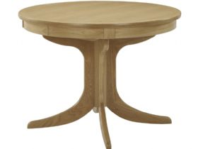 Circular Extending Pedestal Table