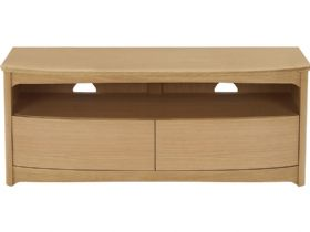 Nathan Furniture Shades Range Shaped TV Unit with Drawers
