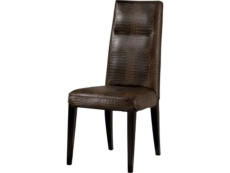 Brown Plain Back Dining Chair