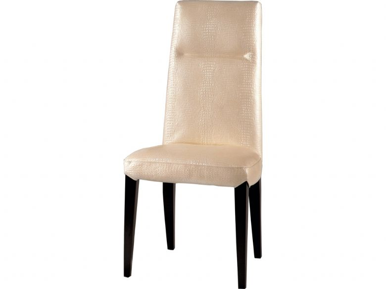 Cream Plain Back Dining Chair