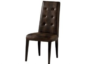 Brown Button Back Dining Chair