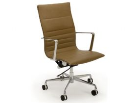 High Back Office Chair - Taupe
