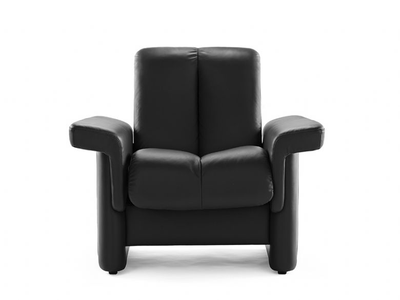 Leather Low Back Chair