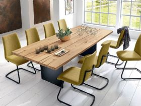 Malko curved dining table