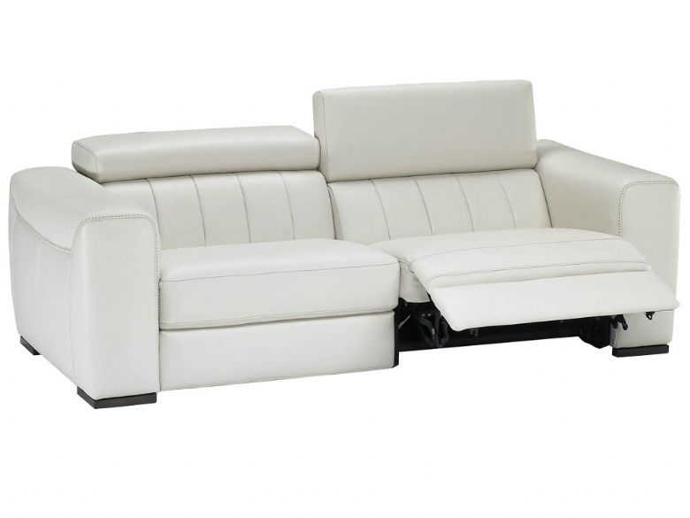 Natuzzi Editions Alvia 3 Seater Leather Double Power Recliner Sofa Lee Longlands