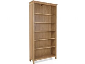 Oak 5 Shelf Bookcase