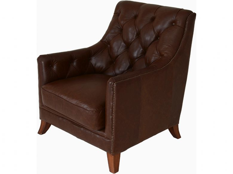 Srm Furnitures: Finley Leather Button Back Chair