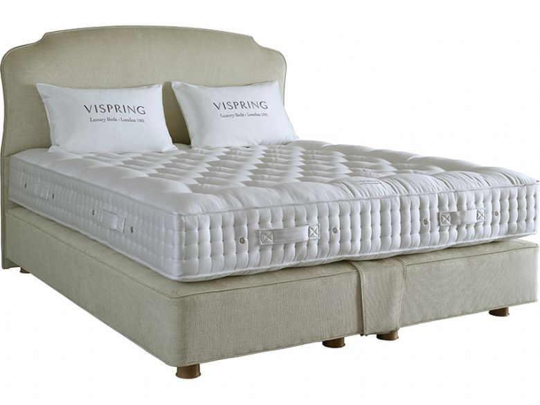 Vi spring regal superb 4 39 6 double divan base mattress for Double divan base and mattress