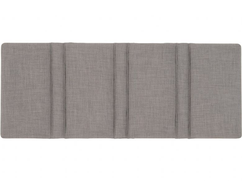 Stripes 4'6 Double strutted fabric headboard