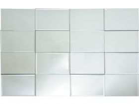 "Grey Rectangular Mirror 40""x32"""