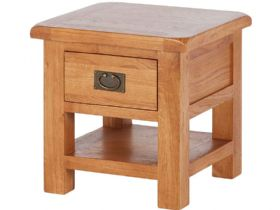 Fairfax Oak Lamp Table with Drawer