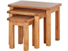 Fairfax Oak Nest of 3 Tables