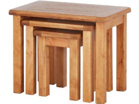 Oak Nest of 3 Tables