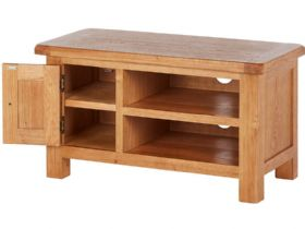 Oak TV Unit Open