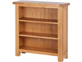 Oak Low Deep Bookcase
