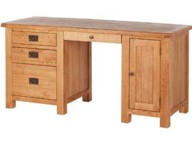 Fairfax Oak Double Desk