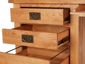 Double Desk Drawers Open