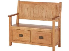 Fairfax Oak Monks Bench